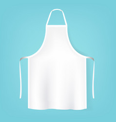 White aprons isolated mint background vector