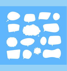 white speech bubbles thinking balloon talks vector image