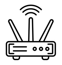 Wifi router icon outline style vector