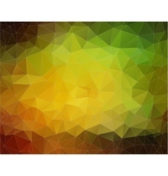 Yellow and Green Background with triangles vector image