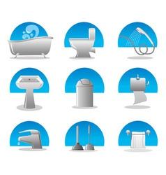 bathroom and toilet web icon set vector image