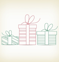 set of christmas gifts sketches for design vector image vector image
