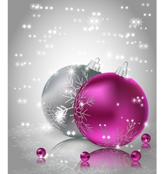 Christmas Background with Christmas balls vector image vector image