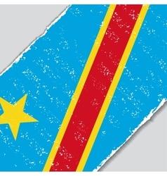 Congo grunge flag vector image vector image