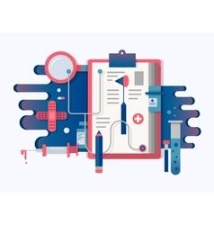 Doctor tools design flat vector image