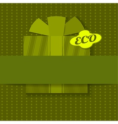 Eco background with gift vector image