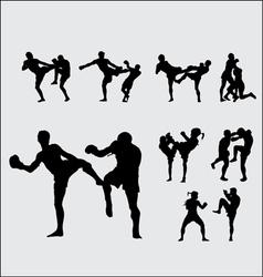 Muay Thai Thai Boxing 1 vector image