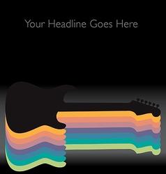 Rainbow Guitar vector image vector image