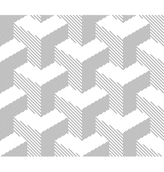 Seamless Geometric Pattern Halftone Background vector image vector image