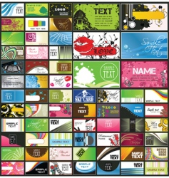 Set of 66 business cards vector