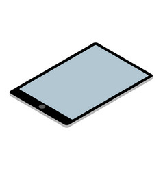 tablet pc isometric isolated on white vector image