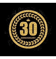 Template Logo 30 Years Anniversary vector image vector image