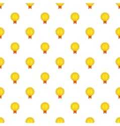 Gold medal pattern cartoon style vector image vector image