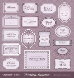 invitation design elements vector image vector image