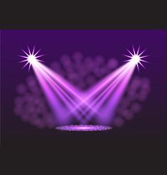 purple spotlights vector image