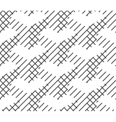 Seamless Geometric Pattern Black And White Lines vector image vector image