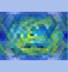 blue and yellow seamless triangular pattern vector image