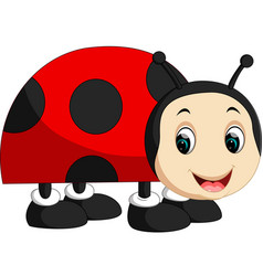 cute ladybug cartoon vector image vector image