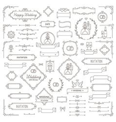 Design elements wedding vector