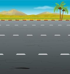 highway background vector image