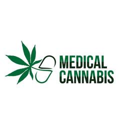 medical cannabis vector image vector image