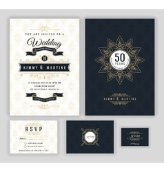 Wedding anniversary celebration party invitation vector image vector image