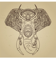 Abstract elephant in Indian style mehndi vector
