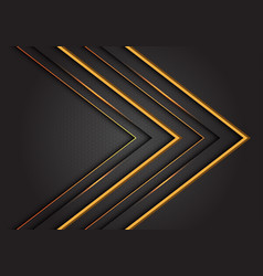 abstract yellow line arrow direction on grey vector image