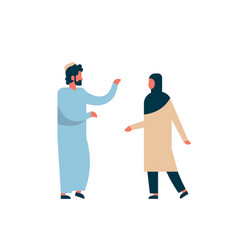 arab couple standing together communication vector image