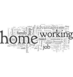 Are you suitable to work from home vector