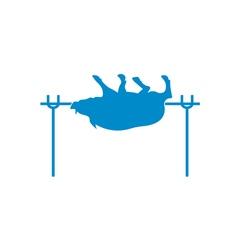 Barbecue boar icon vector