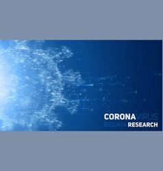big data research coronavirus disease 3d vector image