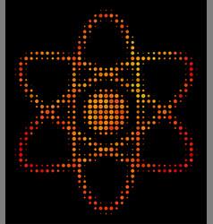 bright pixel atom icon vector image