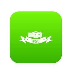 Buckle modern icon green vector