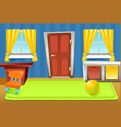 cartoon house doors composition vector image