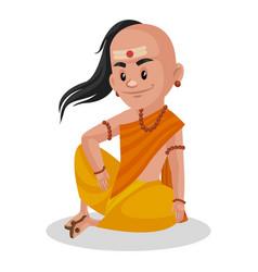 chanakya cartoon character vector image