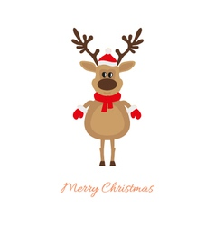 Christmas deer on a white background vector image