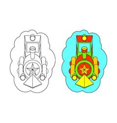 Color-In Locomotive vector image