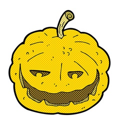 Comic cartoon halloween pumpkin vector