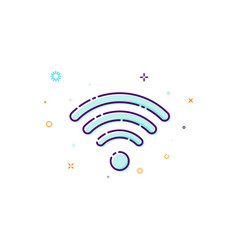 Concept wifi icon of wireless access point thin vector