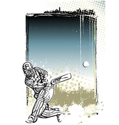 Cricket poster background vector