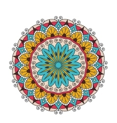 Decorative arabic round lace ornate mandala vector