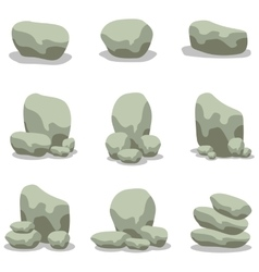 Design stone element set of vector image