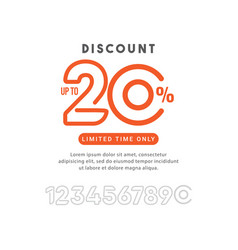 Discount up to 20 off limited time only template vector