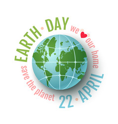 earth day 22 april vector image