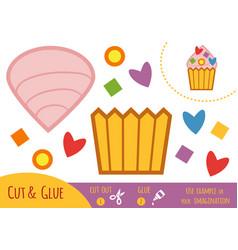 education paper game for children cake vector image