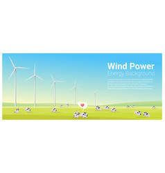 Energy concept background with wind turbine 27 vector