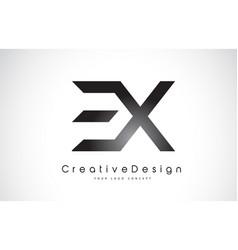 Ex e x letter logo design creative icon modern vector