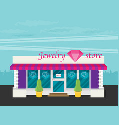 facade of jewelry flat vector image