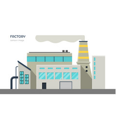 Factory exterior isolated industrial image vector